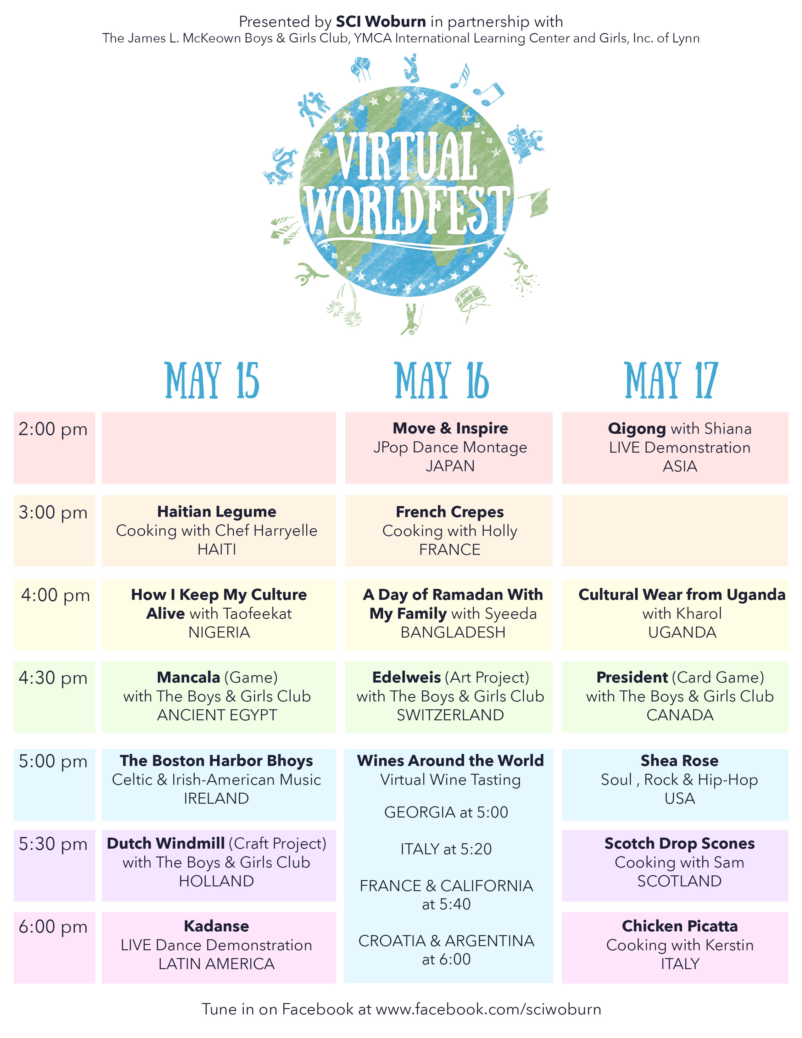 Virtual Worldfest 2020 Schedule
