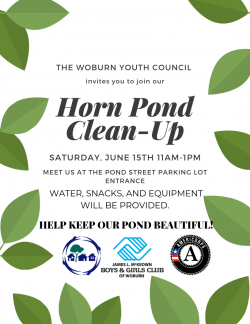 Woburn Youth Council Horn Pond Clean-Up