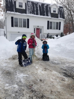 Youth Shoveling