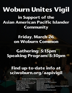 Woburn Unites Vigil in Support of the AAPI Community